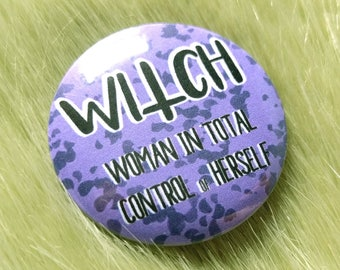 Witch pin, feminist badge, strong women pin, feminist gift ideas, witch gift, pin buttons, pinback button, feminist pin, feminist button