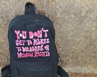 Casual Canvas Shoulder Bag Angry Feminist Laptop Shoulder Bag