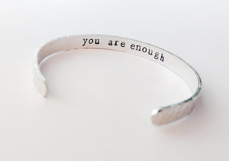 You Are Enough Secret Message Bracelet | Beanstalk Mums