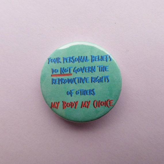 Pro choice badge political pin buttons abortion rights   Etsy