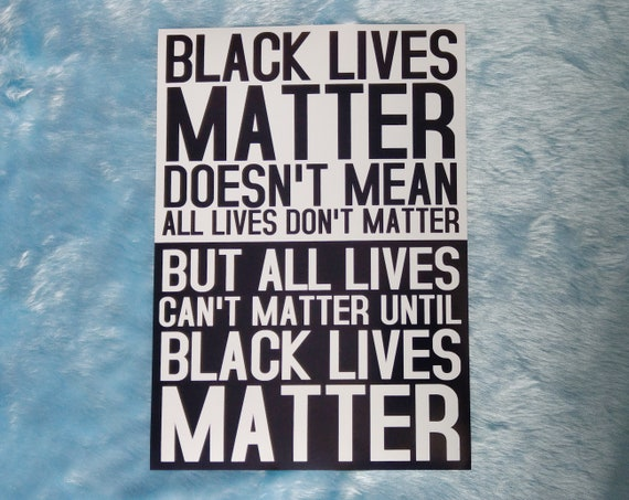 Black lives matter print social justice typography wall art | Etsy