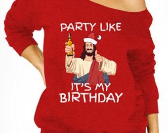 Slouchy Ugly Christmas Sweater X-mas Merry Christmas Party Jesus Birthday Slogan Tumblr Tree Funny Santa Elf Reindeer Gift Hoodie MB660