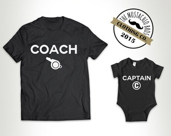 481384bda Coach and Captian - Father Son Matching Shirts Father And Baby Gift Daddy  Daughter Matching Bodysuit Family T Shirt Fathers Day New Dad MB24