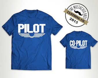 Pilot and Co-Pilot - Matching Father And Baby Matching Father Son Shirts Father Matching Shirts Dad And Baby Gift Bodysuit MB241-MB242