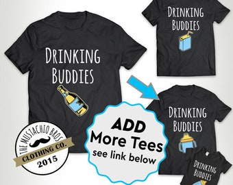 Drinking Buddies (Juice Box) - Father Daughter Matching Shirts Father And Son Gift Daddy Baby Shirt Family Outfits Bodysuit MB688-MB706