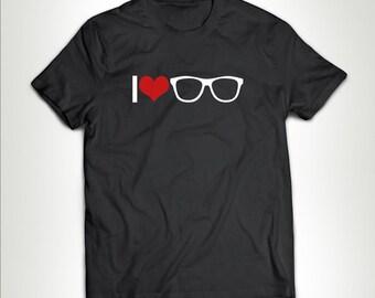 I Heart Nerds T-shirt Gift T-shirt Birthday Him Her Geek Nerd Funny Tees I Love Nerds Shirt Customize MB539