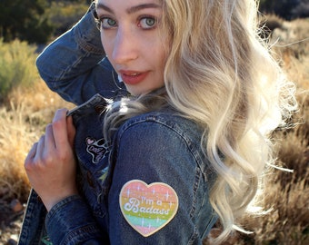 Pastel Iron-On Patch Badass Kawaii Aesthetic Embroidered Patch Cute Art Rainbow Heart Sparkle Accessories Magical Gift Myfriendsoftheforest