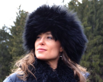 5e8a317e817fcc The Duchess - Black - Shearling Hat Sheepskin Fur