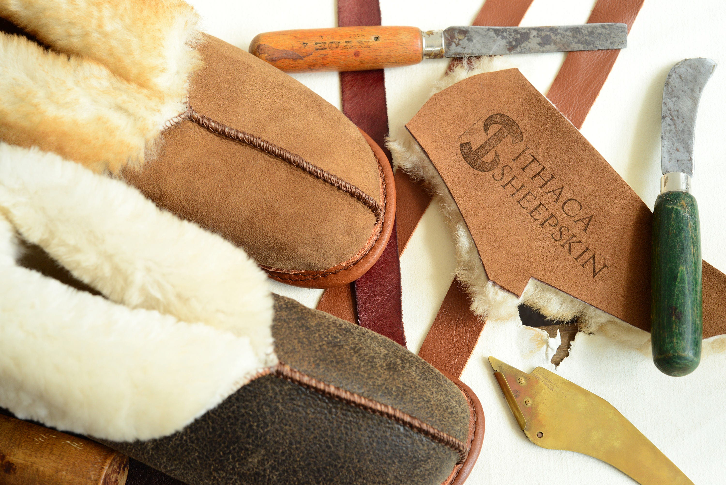 The Best Women's Sheepskin Slippers - Shoes Shearling Booties Fur House Shoes - Leather Wool Suede fe817a