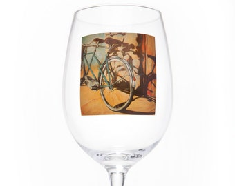 On the Wheel Single Wine Glass - Bluebird Tandem