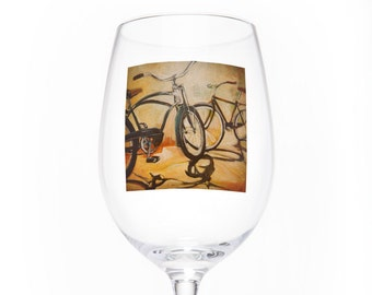 On the Wheel Single Wine Glass - Double Delight
