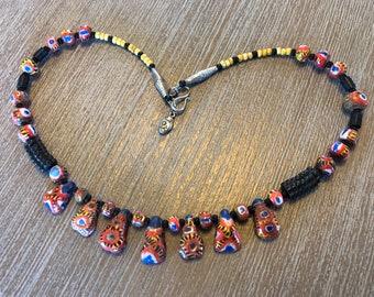Kiffa bead necklace - Woman's craft - Mauritania Africa