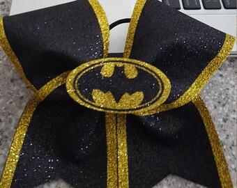3-D Batman cheer bow