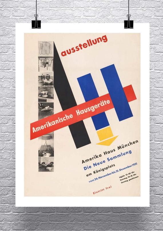 Leo Manso 1964 Mid Century Modern Art Poster Rolled Canvas Giclee Print 16x24 in