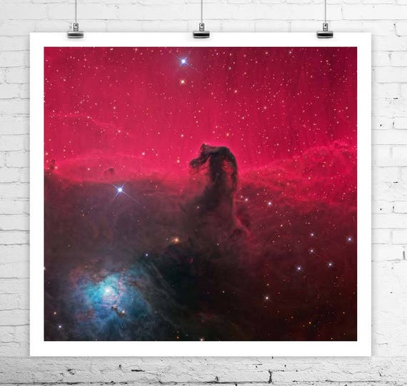 ROSE MADE OF GALAXIES Hubble Deep Space Giclee CANVAS PRINT 24x24 in.