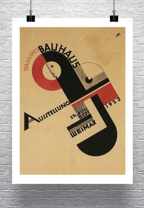 1923 GERMAN WEIMAR BAUHAUS PERFORMANCE TRIADIC BALLET A3 POSTER RE PRINT