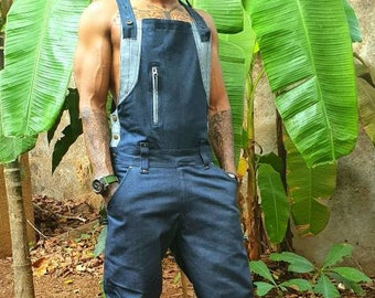 T-Bone - Dungarees or overalls for men and women, workwear, burningman, wasteland weekend, cosplay, goa clothing, festival clothing