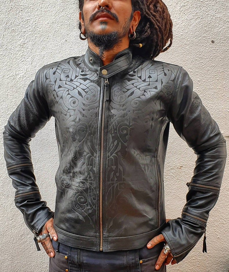 9ec0999c7 Graver- men and women's custom fit engraved leather jackets, riding  jackets, burning man clothing, biker jackets, leather jackets