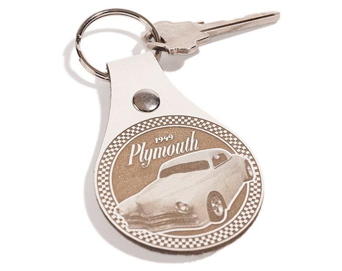 CAR CLUB LOGO Key Chain - Key Fob Custom- My Car Club- Personalized Engraved Leather Key Rings