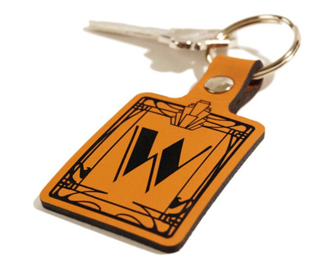 GIFT KEYRING – Initial Key Fob – Laser Engraved Leather Keychain