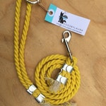 Solid Color Handcrafted 100% Cotton Rope 4ft or 6ft Dog Leash