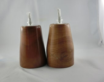 Oak wood candlestick
