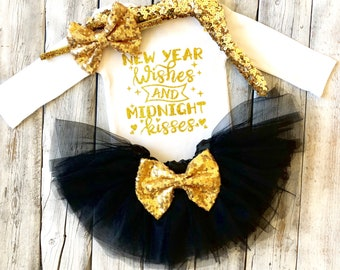 baby girl new years outfit baby girl new year tutu outfit 1st new year outfit first new year outfit girls new year black gold