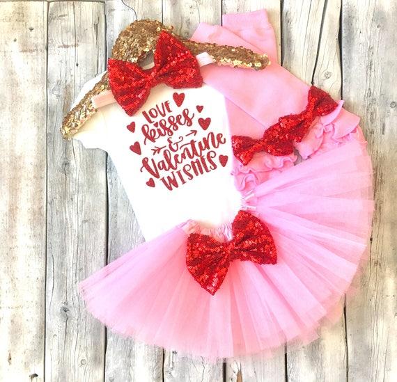 Baby Girl Valentines Day Outfit Valentines Tutu Valentines Etsy