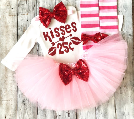 Toddler Valentine/'s Day Outfit Kisses 25 cents Baby Valentine/'s Day Outfit Pink Kisses 25 cents Valentine/'s Day Outfit Hearts Outfit