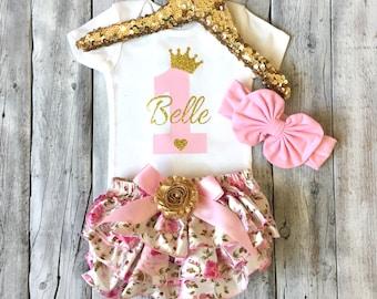 1st birthday outfit girls, first birthday girl outfit, pink and gold 1st birthday outfit, cake smash, pink gold, birthday girl outfit, girls