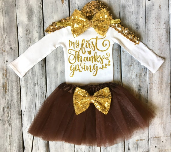 b37e884c9b279 Girls first thanksgiving outfit 1st thanksgiving outfit baby | Etsy