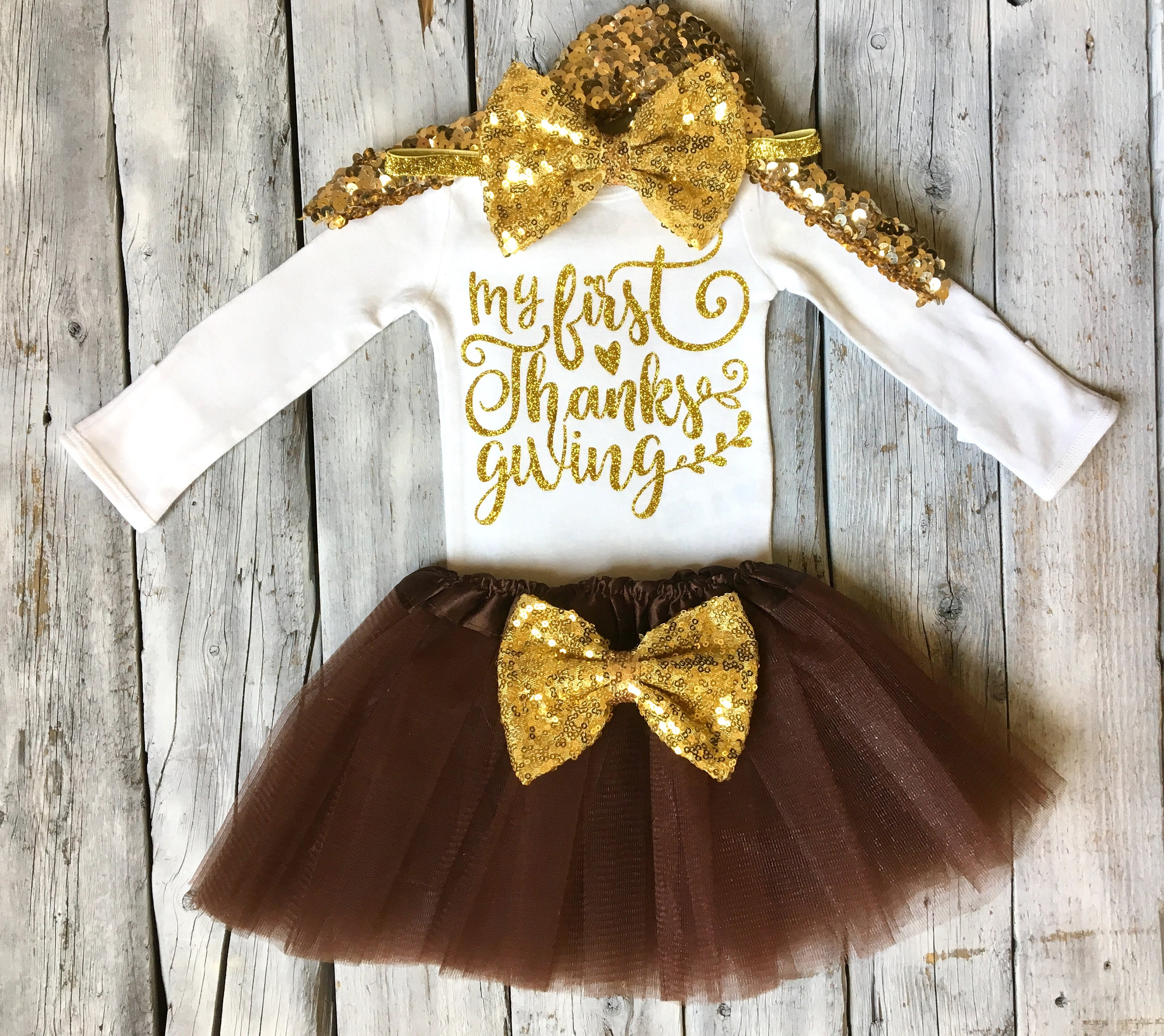 b3065acdaeda Girls first thanksgiving outfit 1st thanksgiving outfit baby | Etsy