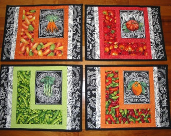 Veggies Placemats - set of 4