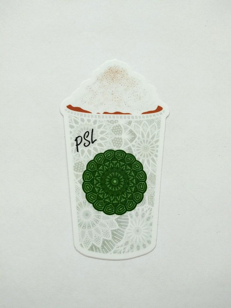 Pumpkin Spice Latte Vinyl Sticker image 1