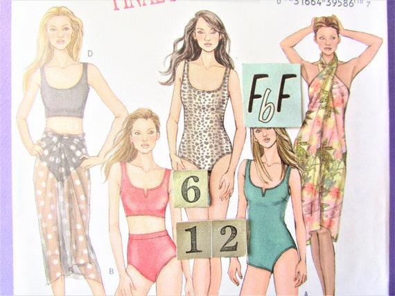 Womens Two Piece Tankini Swimsuit Sewing Pattern/ Butterick   Etsy