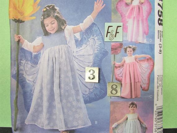 Mädchen Fee Kostüm Schnittmuster / McCall ist 3758 Mädchen | Etsy