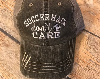 1189899762a Soccer Hair Don t Care Hat