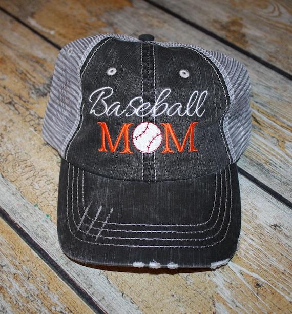 Baseball Mom Trucker Hats Personalized hat baseball hat  c433e0ad4751