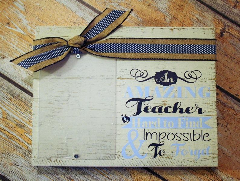 Teacher Frame Teacher Custom Embellished Wood Block Picture Frame-Thank You Frame end of the year gift teacher gift Design Your Own