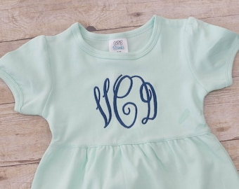 Monogrammed Dress - Toddler Girls Monogram Dress - Monogrammed Girls Dress - Ruffle Dress - Baby Girls Monogram - Girls Monogram