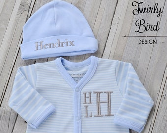 Baby Boy Blue Personalized Outfit