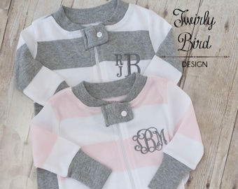 Twin Baby Outfits Boy Girl, Baby Shower Gift Twins