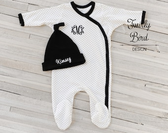 Classic Black and Ivory Baby Girl Outfit