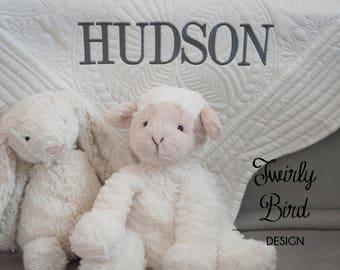 Baby Gift - Baby Quilt - Baby Shower Gift Boy - Baby Blanket - Ivory Baby Quilt - Baby Shower - Personalized Baby Quilt - Monogram Quilt