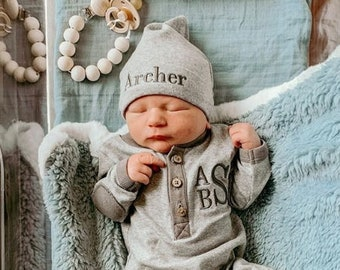 Baby Boy Coming Home Outfit Personalized, Newborn Baby Boy Outfit