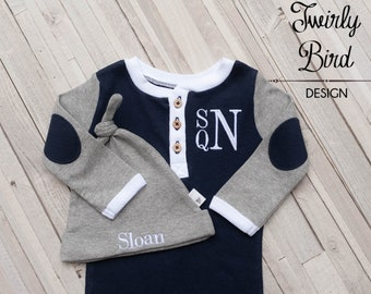 Coming Home Outfit Boy - Newborn Boy Come Home Outfit - Newborn Boy Outfit - Newborn Baby Boy - Take Home Outfit Newborn Boy