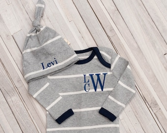 Baby Boy Coming Home Outfit, Personalized Baby, Organic Baby