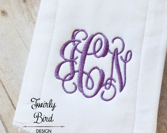 Burp Cloths Girls - Baby Shower Gift, Monogrammed Burp Cloth, Girl Burp Cloth, Baby Burp Cloths, Girl Burp Cloth