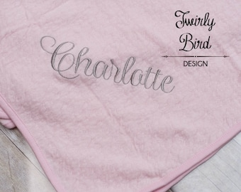 Baby Blanket - Personalized Baby Blanket -  Organic Blanket - Personalized Baby Gift - Baby Shower Gift Boy - Grey Baby Blanket