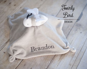 Security Blanket for Baby  - Personalized Baby Lovey - Baby Shower Gift - Minky Baby Lovey - Baby Security Blanket